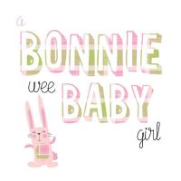 Pink Pig - Card - Bonnie Baby  Girl